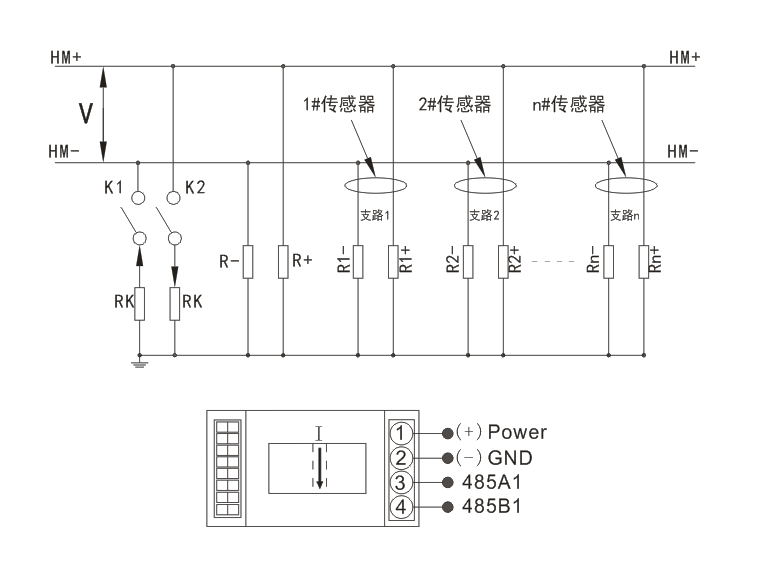 磁调制工作原理,将被测直流微电流隔离转换成Rs485输出数字信号;  自带拔码开关,地址自由设定(1~255);  抗干扰能力强、适合远距离传输;  温度补偿电路控制,单片机技术、测量准确;  穿孔输入、标准导轨(35mm)安装;  可旋转测头,方便不同角度穿线;  广泛应用于直流电源系统供电支路绝缘在线检测;  供电在11 ~ 30V内通用;  外型尺寸(mm):95(L)37(W)88.