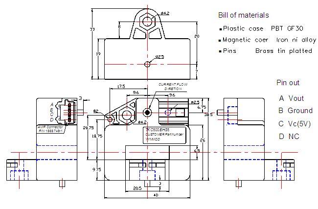 lfq-b61系列霍尔电流传感器